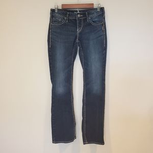 Silver Aiko Bootcut Jeans Woman's size 27 by 33